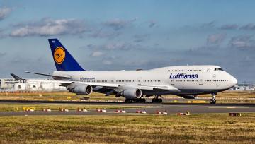 обоя boeing b747-400, авиация, пассажирские самолёты, авиалайнер