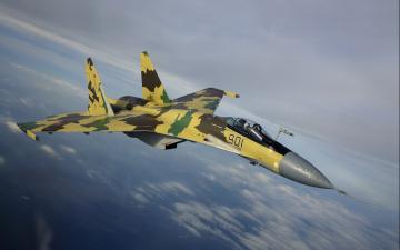 обоя авиация, боевые самолёты, небо, облака, полет, самолет