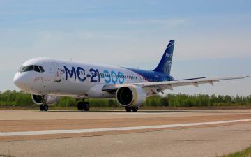 обоя мс- 21- 300, авиация, пассажирские самолёты, самолёт, мс-, 21-, 300