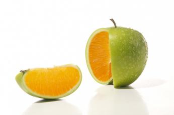 Картинка разное компьютерный+дизайн апельсин яблоко