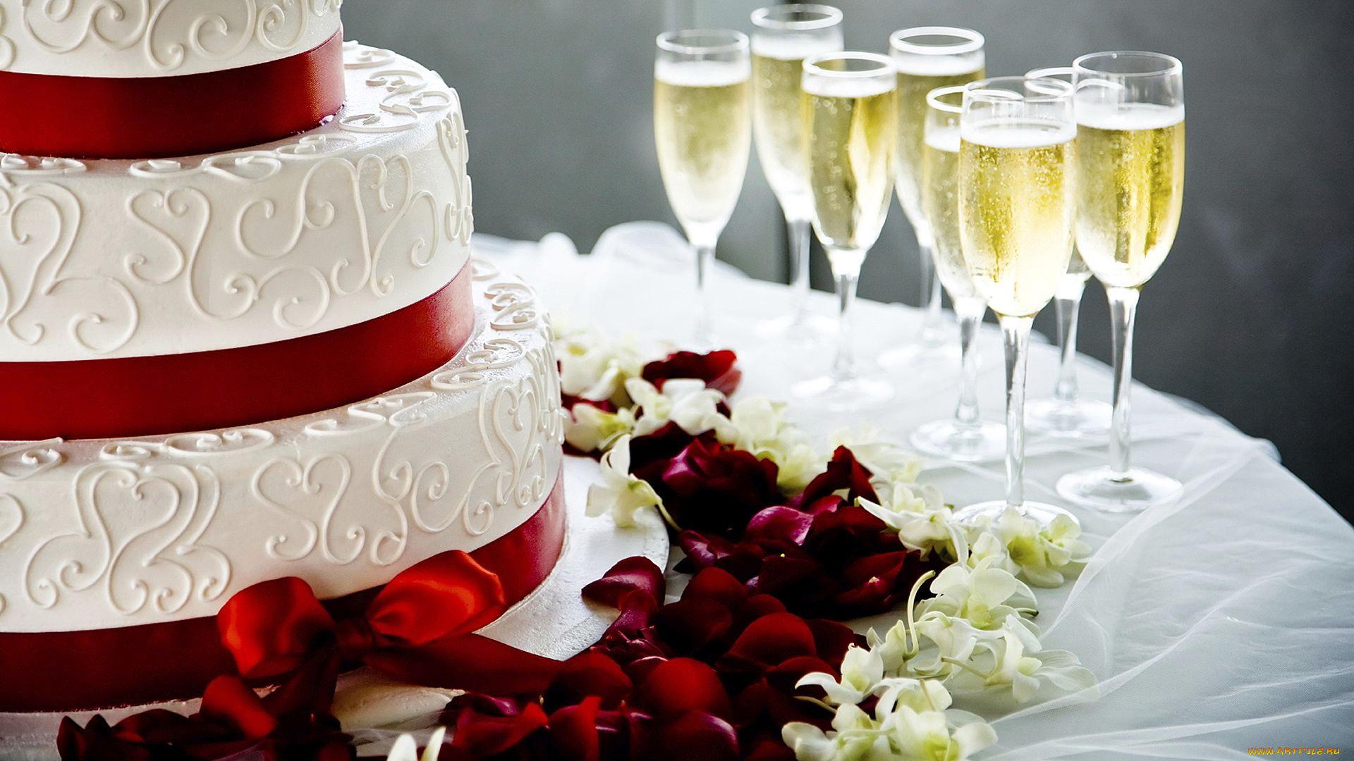 Открытка торт свадебный, бракосочетанием