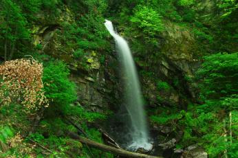 Картинка природа водопады leaves water waterfall stream осень листья autumn вода поток водопад