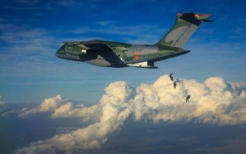обоя авиация, военно-транспортные самолёты, brazilian, air, force, embraer, fab, kc-390