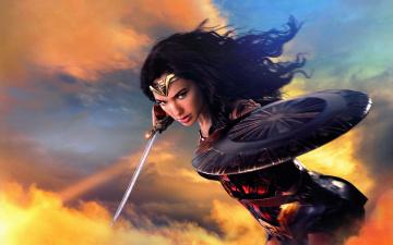 обоя кино фильмы, wonder woman, меч, wonder, woman, щит