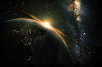 Картинка космос арт звезды вселенная планета