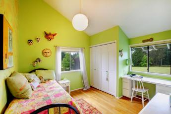 обоя интерьер, детская комната, дизайн, оформление, детская