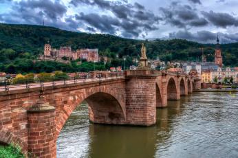 обоя heidelberg – puente carlos teodoro, города, прага , Чехия, мост, река