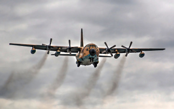 обоя c-130 hercules, авиация, военно-транспортные самолёты, транспорт