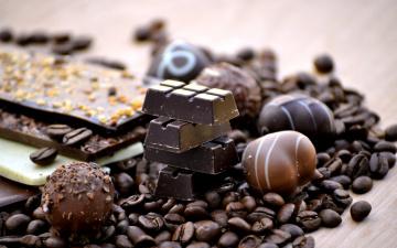 Картинка еда конфеты +шоколад +сладости зерна кофе лакомство