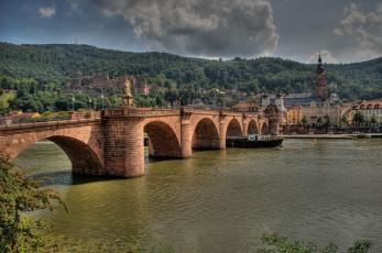 обоя heidelberg, города, - мосты, простор