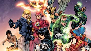 обоя рисованное, комиксы, арт, супергерой, лига, справедливости