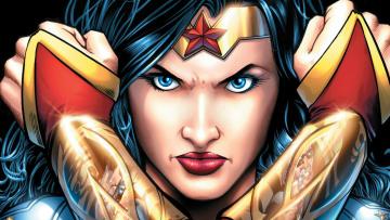 обоя рисованное, комиксы, марвел, чудо-женщина, супергерой, постоянного, тока