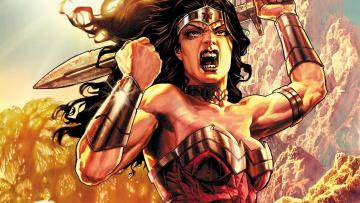 обоя рисованное, комиксы, марвел, супергерой, чудо-женщина, постоянного, тока