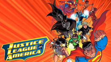 обоя рисованное, комиксы, супергерой, арт, лига, справедливости