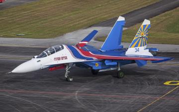 Картинка авиация боевые+самолёты истребитель российский многоцелевой су-30 двухместный
