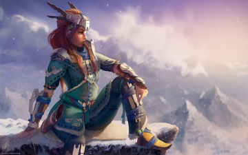 Картинка видео+игры horizon+zero+dawn +the+frozen+wilds horizon zero dawn the frozen wilds action шутер