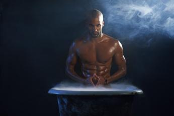 Картинка ricky whittle мужчины ванна торс дым пар актёр