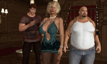 Картинка 3д+графика люди+ people взгляд девушка мужчины