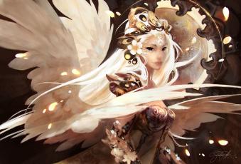 обоя фэнтези, ангелы, арт, fantasy, gianluca, rolli