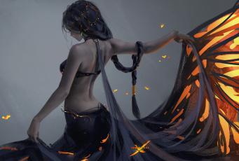 обоя фэнтези, _ghost blade ,  призрачный клинок, девушка