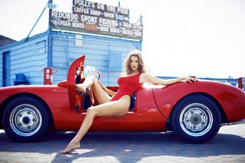 обоя автомобили, -авто с девушками, девушка, купальник