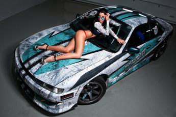 обоя автомобили, -авто с девушками, nissan