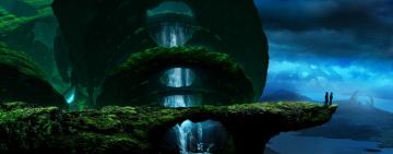 обоя фэнтези, романтика апокалипсиса, водопад