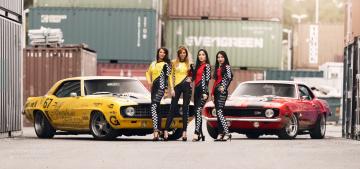 обоя автомобили, -авто с девушками, camaro