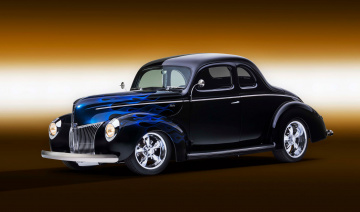 обоя 1940-ford-coupe-ghost-flames, автомобили, custom classic car, ford