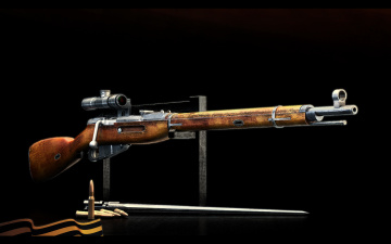 Картинка оружие винтовки прицеломприцелы патроны лента
