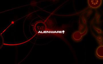 Картинка компьютеры alienware логотип фон