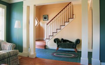 Картинка интерьер холлы лестницы корридоры дом дизайн стиль вилла жилое пространство