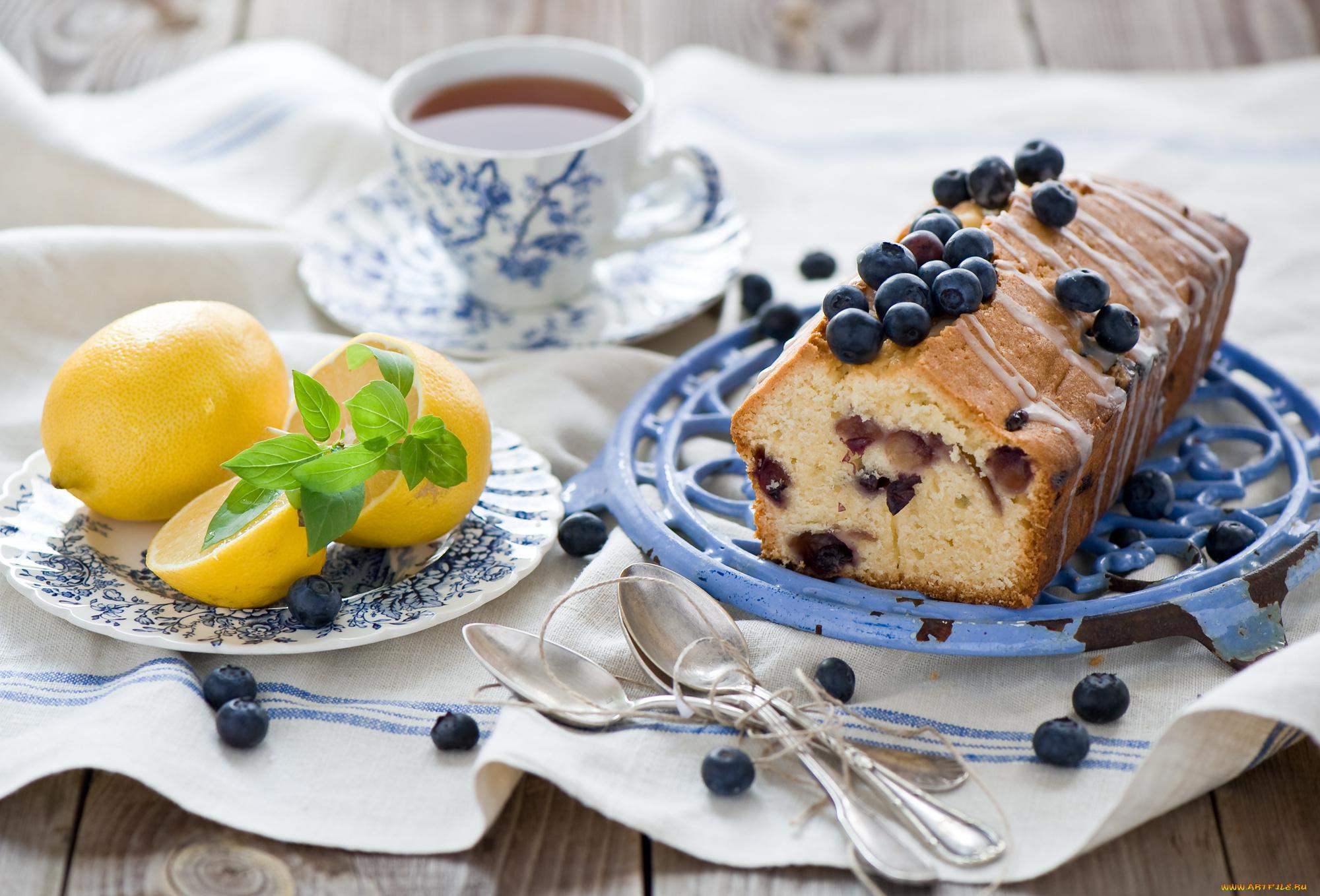 пирожные лимоны чай  № 3678255 загрузить
