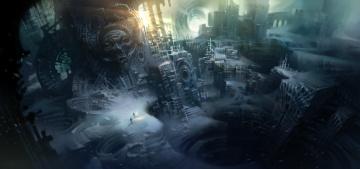 Картинка фэнтези иные+миры +иные+времена h p lovecraft art at the mountains of madness снег руины