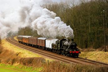 Картинка техника паровозы дорога рельсы паровоз железная