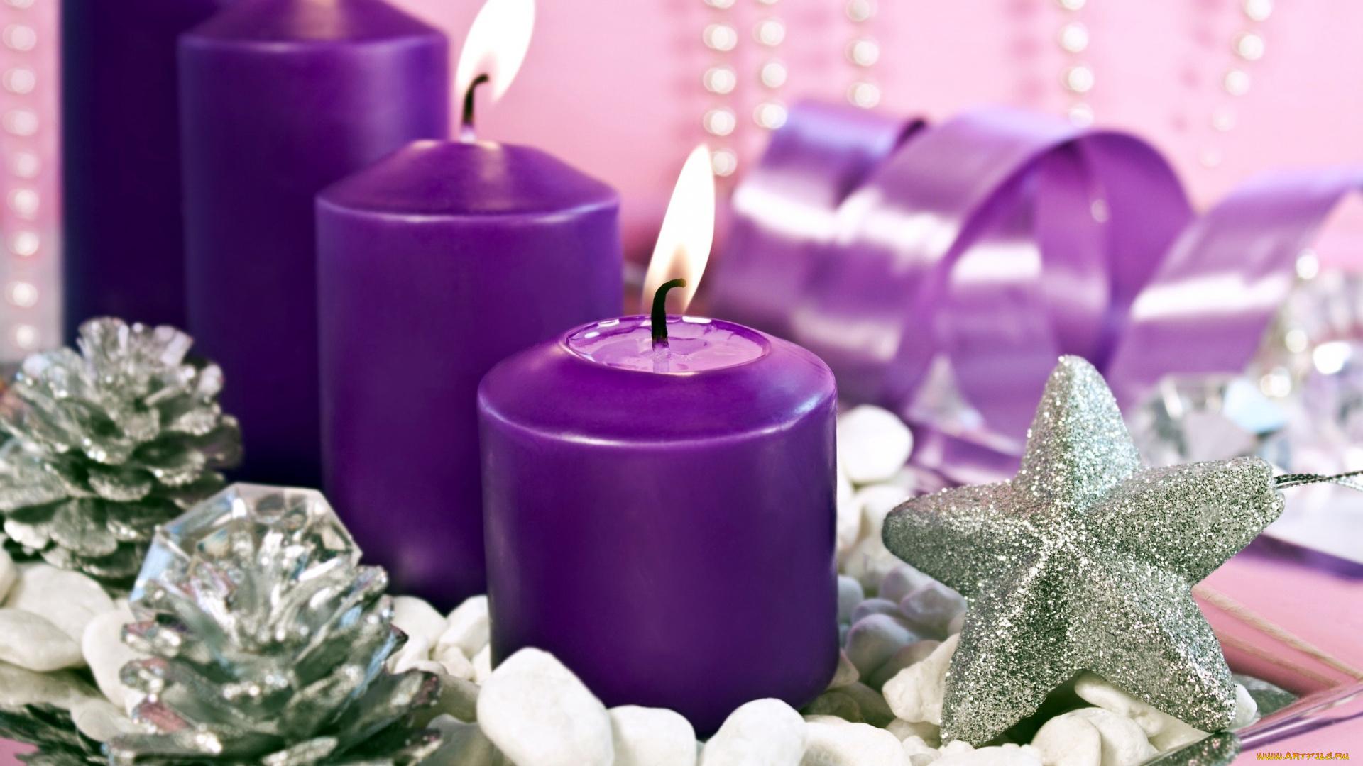 Свечи новый год  № 1395167  скачать