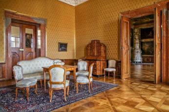 обоя интерьер, дворцы,  музеи, диван, стулья, ковер