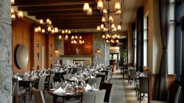 обоя интерьер, кафе,  рестораны,  отели, столики, светильники