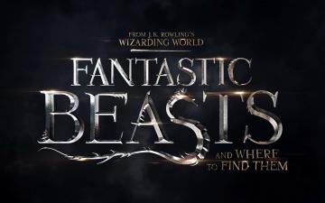 обоя кино фильмы, fantastic beasts and where to find them, надпись, название