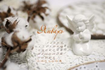 обоя календари, -другое, ангелочек