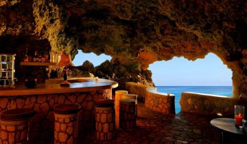 Картинка negril+jamaica интерьер кафе +рестораны +отели грот бар Ямайка море