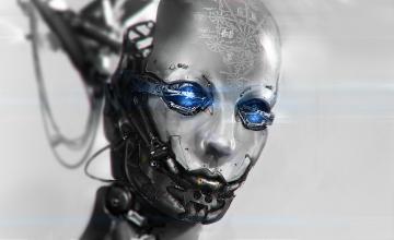 Картинка фэнтези роботы +киборги +механизмы лицо киборг робот андроид