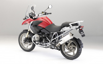 Картинка мотоциклы bmw r-1200-gs 2009 красный