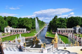 обоя петергоф, города, санкт-петербург,  петергоф , россия, фонтаны, санкт-, петербург