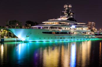 обоя kismet yacht - miami, корабли, Яхты, суперяхта
