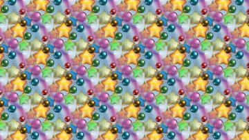 обоя праздничные, векторная графика , новый год, текстура, фон, новый, год, новогодние, шарики, праздник, звёздочки