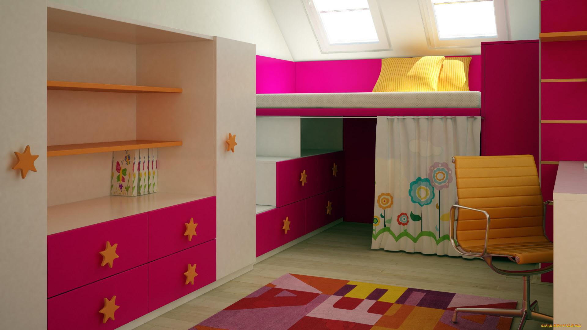 Детская комната  № 3567519 загрузить