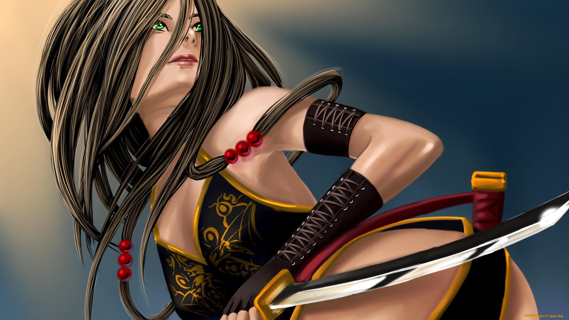 nude art Sexy wallpaper woman fantasy warrior