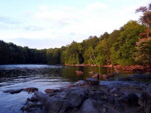 Картинка природа реки озера камни река деревья