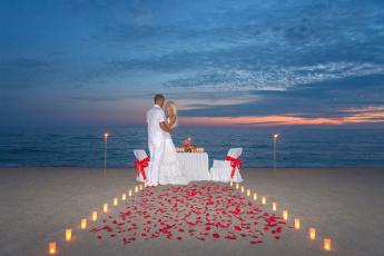 обоя разное, мужчина женщина, море, пляж, свадебный, вечер